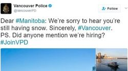 Vancouver And Manitoba Police Are Twitter-Fighting For