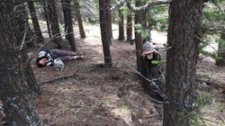Alberta Bikers Almost Hit Hidden Barbed Wire Strung Between