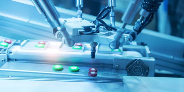 artificial intelligence machine at industrial manufacture