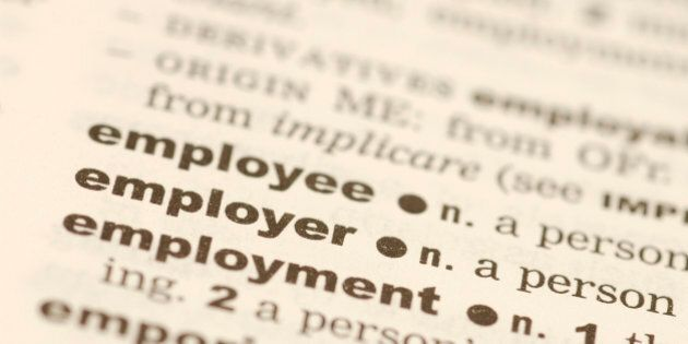 Defining employee , employer and