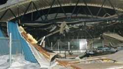 LOOK: Employee Narrowly Escapes Arena Roof