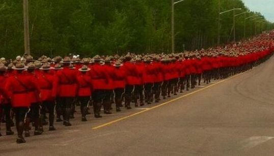 Powerful Photos From Funeral For Fallen Moncton