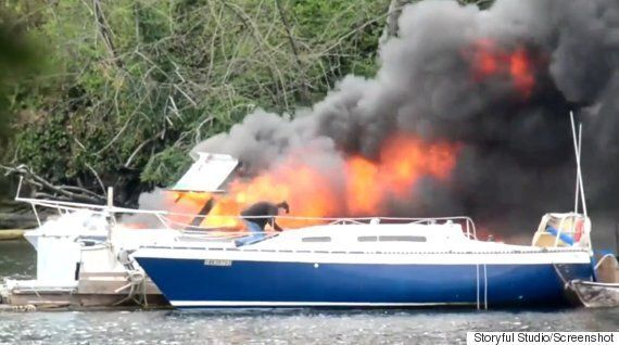 Victoria Boat Fire Sends One Person To Hospital For Smoke