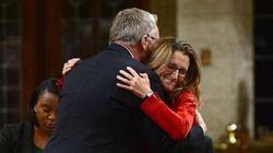 Trade Minister Hugs Conservative Predecessor To Mark CETA