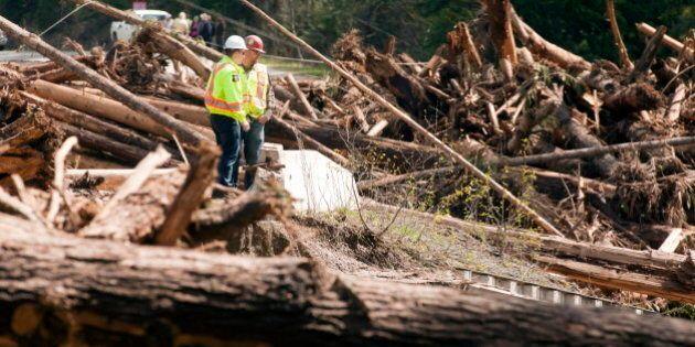 Enderby Landslide Cuts Power To