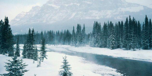 Banff National Park Gets Spring Snowfall