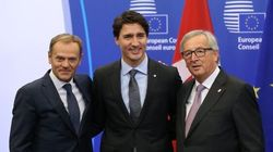 'Great Day For Europe' As Trudeau Signs Trade