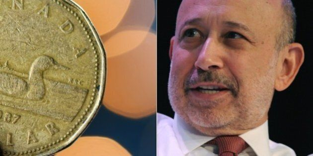 Goldman Sachs Says Loonie Will Fall In