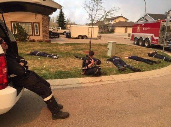 Fort McMurray Firefighters' Heroic Work Captured On Home's Security