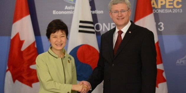 Stephen Harper In South Korea: Free Trade Deal On The