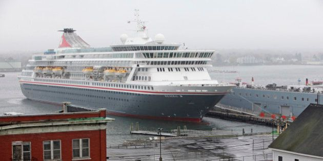 PORTLAND, ME - MAY 8: The Balmoral cruise ship docked at the Maine State Pier. (Photo by Jill Brady/Portland...