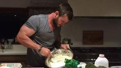 Chris Hemsworth Puts His Heart (And Muscles) Into Daughter's Bday