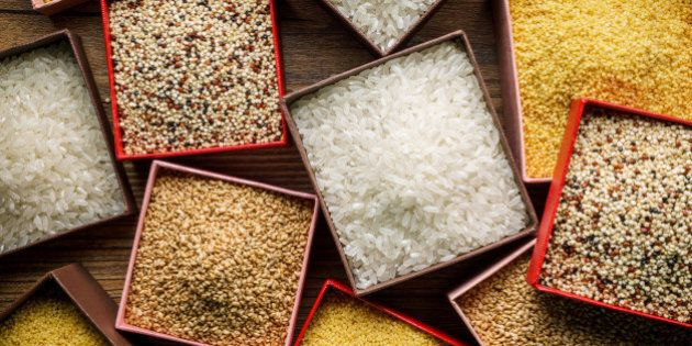 Varieties of Grains Seeds and Raw