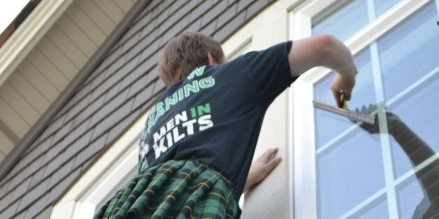 Men In Kilts Window Cleaning Is A Brilliant Vancouver