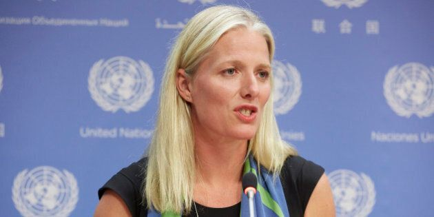 UN HEADQUARTERS, NEW YORK, UNITED STATES - 2016/09/21: Ms. Cathrine McKenna, Minister for the Environment...