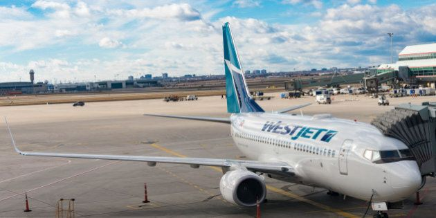PEARSON INTERNATIONAL AIRPORT, TORONTO, ONTARIO, CANADA - 2016/02/01: Westjet Boeing 737-800 at Pearson...