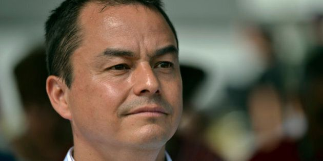 12-07-16 - TORONTO, ONTARIO - Assembly of First Nations National Chief Shawn Atleo listens to speakers. A gathering and memorial service for native's who fought and died in the War of 1812 took place Monday, July 16, 2012. A procession began at David Crombie Park, on The Esplande, and wound its way to Fort York for the service. The event takes place on the first day of the Chief's Assembly being held in Toronto July 16-19. (Photo by Rick Madonik/Toronto Star via Getty Images)