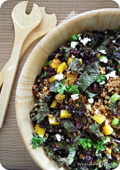 Pack This Wheat Berry, Kale, And Feta Salad For A Tasty