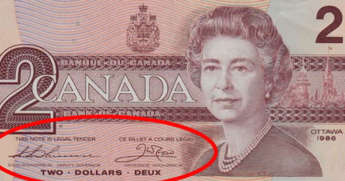 No Your 2 Bills Are Not Worth 20 000 Huffpost Canada