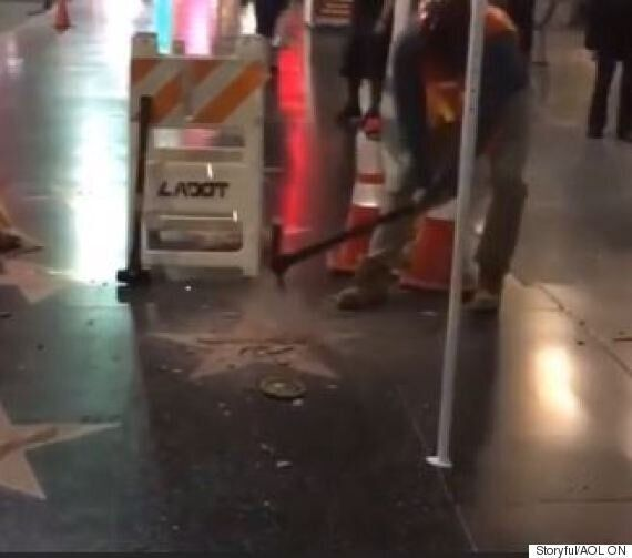 Trump's Hollywood Walk Of Fame Star
