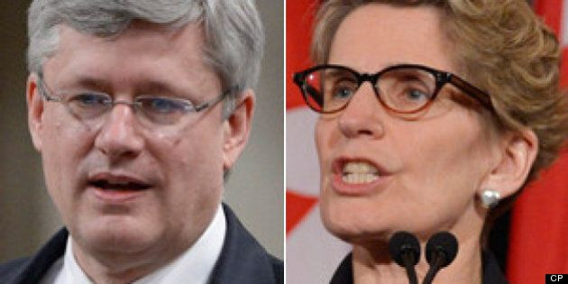 Kathleen Wynne Takes Aim At Harper Government On First Day Of Election