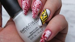 This Easy Crime Scene Nail Art Is Perfect For