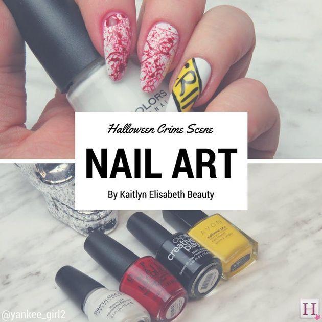 Halloween Nail Art: A Creepy Crime Scene