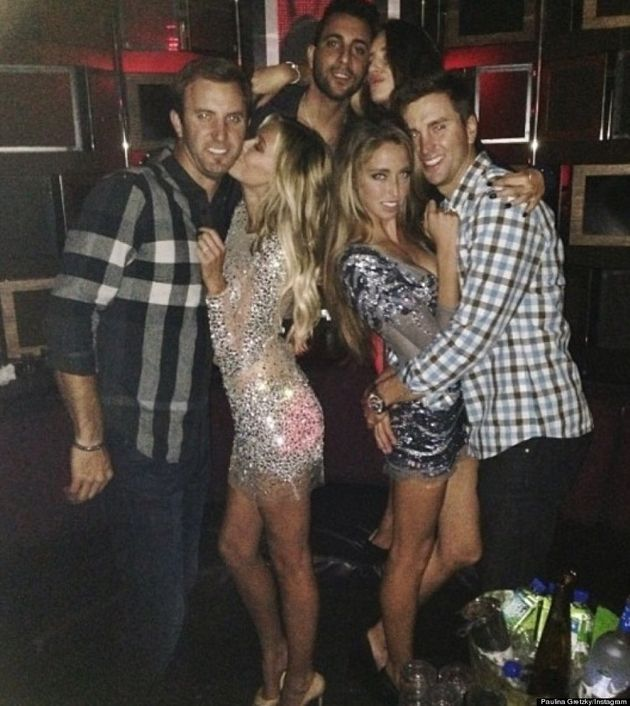 Paulina Gretzky Does Her Best Britney Spears Impression In Sparkly Sheer Dress