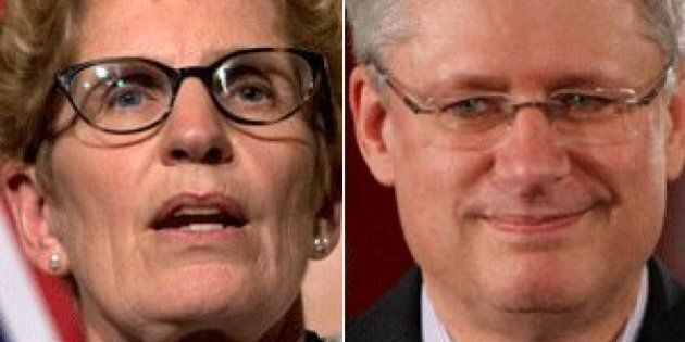 Ontario Election 2014: Wynne Doesn't Want Pension Pitch Sidetracked By Harper