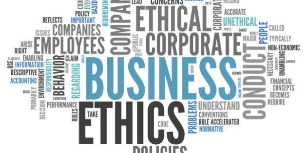 Word Cloud with Business Ethics related