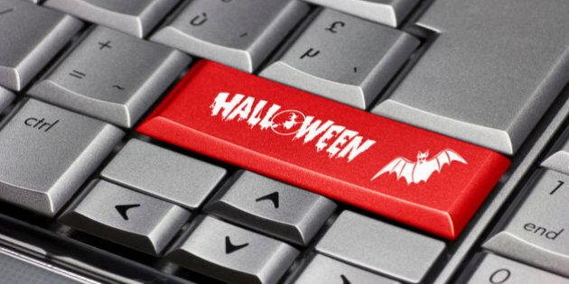 Computer key - Halloween