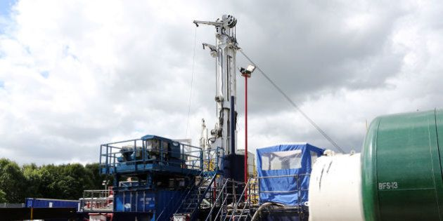 Embargoed to 0001 Friday August 16 A general view of the Cuadrilla exploration drilling site in Balcombe,...