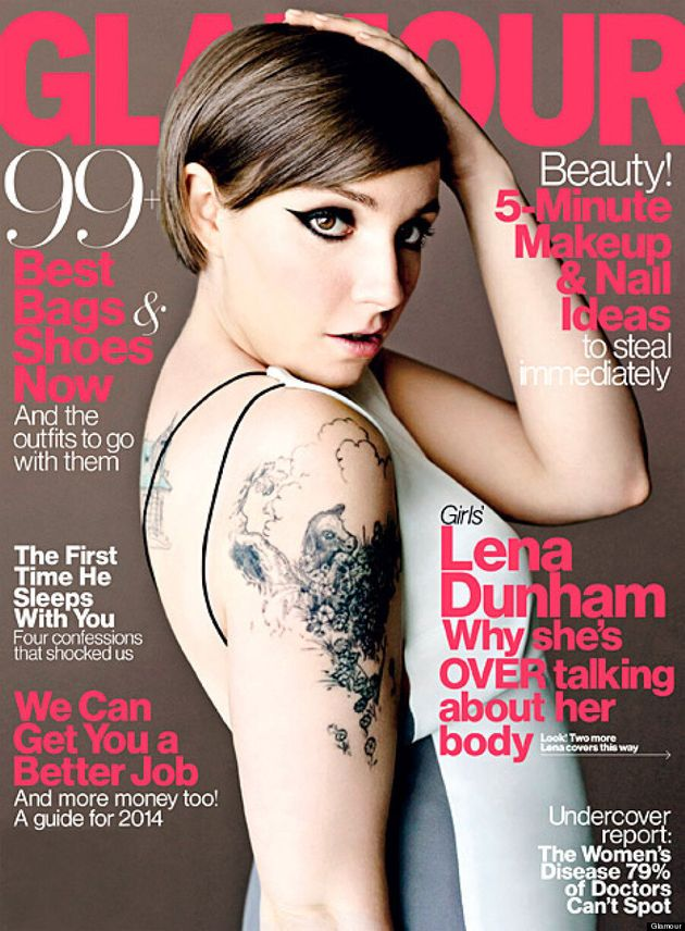 Lena Dunham's Glamour Cover Is From The Waist Up,