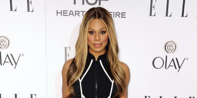 WEST HOLLYWOOD, CA - JANUARY 22: Actress Laverne Cox attends ELLE's Annual Women in Television Celebration...