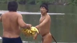 Incredible Video Shows Amazon Tribe's Contact With Outside