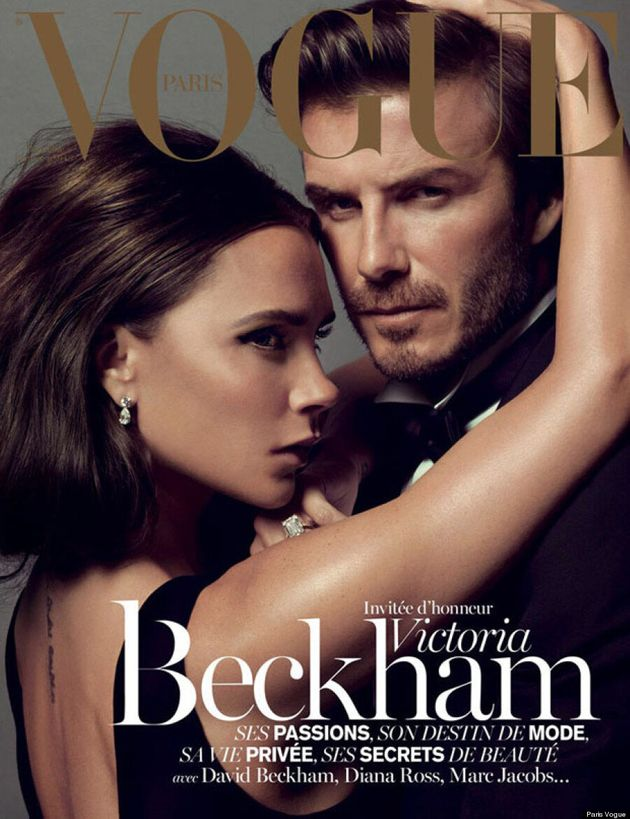 Victoria Beckham And David Beckham's Paris Vogue Cover Is HOT