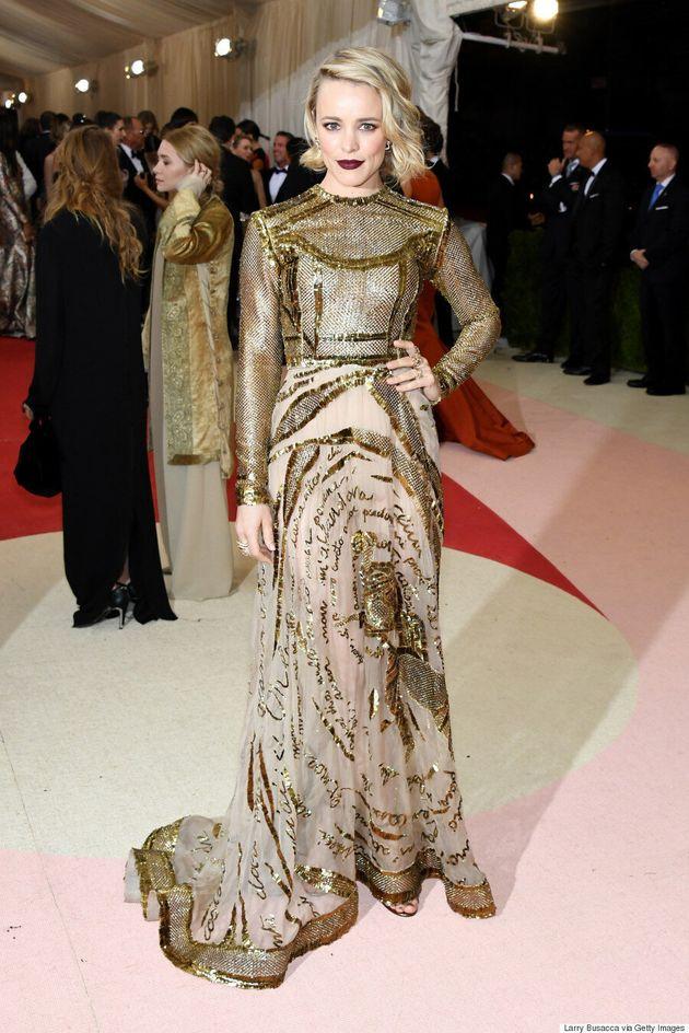 Rachel McAdams' Met Gala 2016 Dress Is A Golden