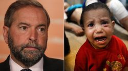 NDP's Youth Wing Chides Mulcair For Not Condemning Israeli Attacks In
