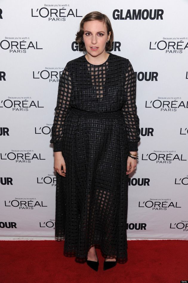 Lena Dunham's Glamour 2013 Women Of The Year Awards Dress Deserves A High-Five