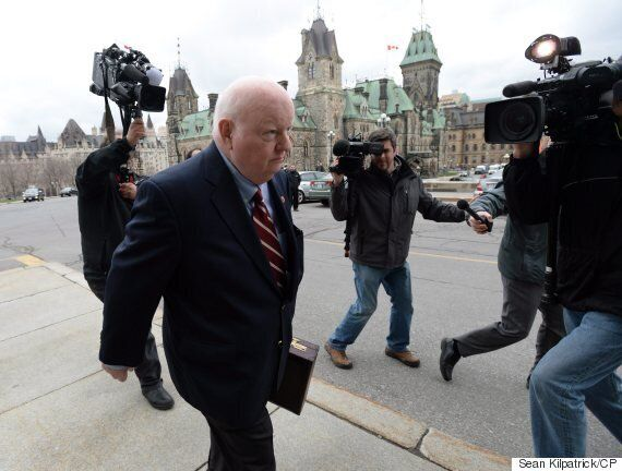 Sen. Mike Duffy Returns To Parliament Hill After