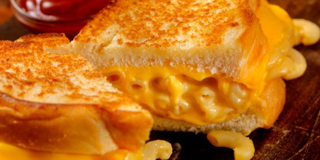 Grilled Macaroni and Cheese Sandwich-Photographed on Hasselblad H3D2-39mb Camera