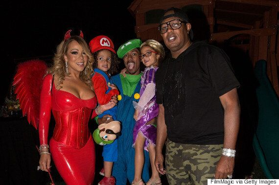 Mariah Carey Dressed Up As A Devil For Halloween Party With Ex Nick