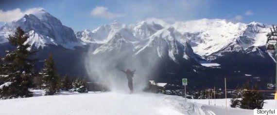 'Snownado' Swallows Up Snowboarder At Lake