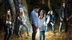 Black Metal Band Makes Epic Cameo In Couple's Engagement