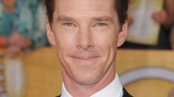 Benedict Cumberbatch Accepts Award In Bathing