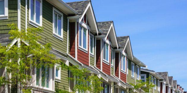 Modern apartment buildings in British Columbia,