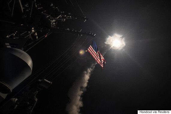 U.S. Strikes Syrian Base With Missiles After Chemical