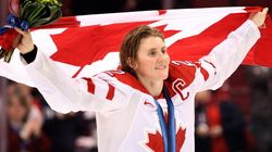 And Canada's Olympic Flag Bearer
