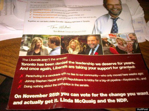 'Angry' Mulcair Flyers Weren't Personal Attack, Liberals