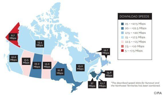 Canada's Internet Speeds Are An East vs. West Story.. And East Is